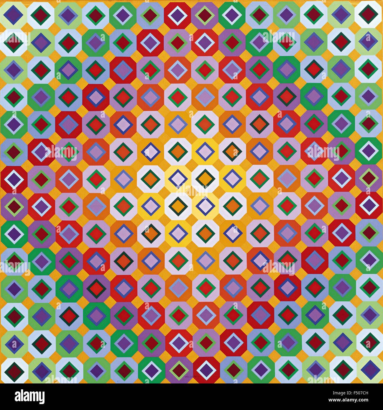 Victor Vasarely - Folk III Immagini Stock