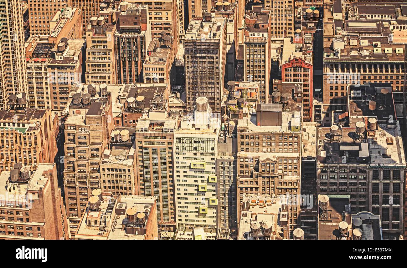Retrò immagine filtrata di New York City, Stati Uniti d'America. Immagini Stock