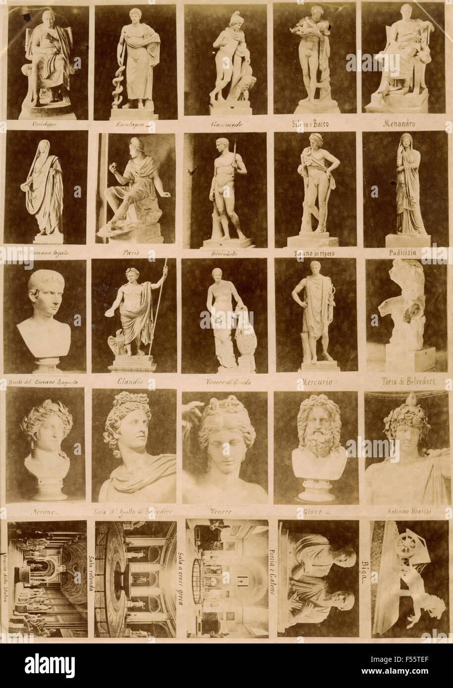 Musei Vaticani: immagini pubblicitarie Immagini Stock