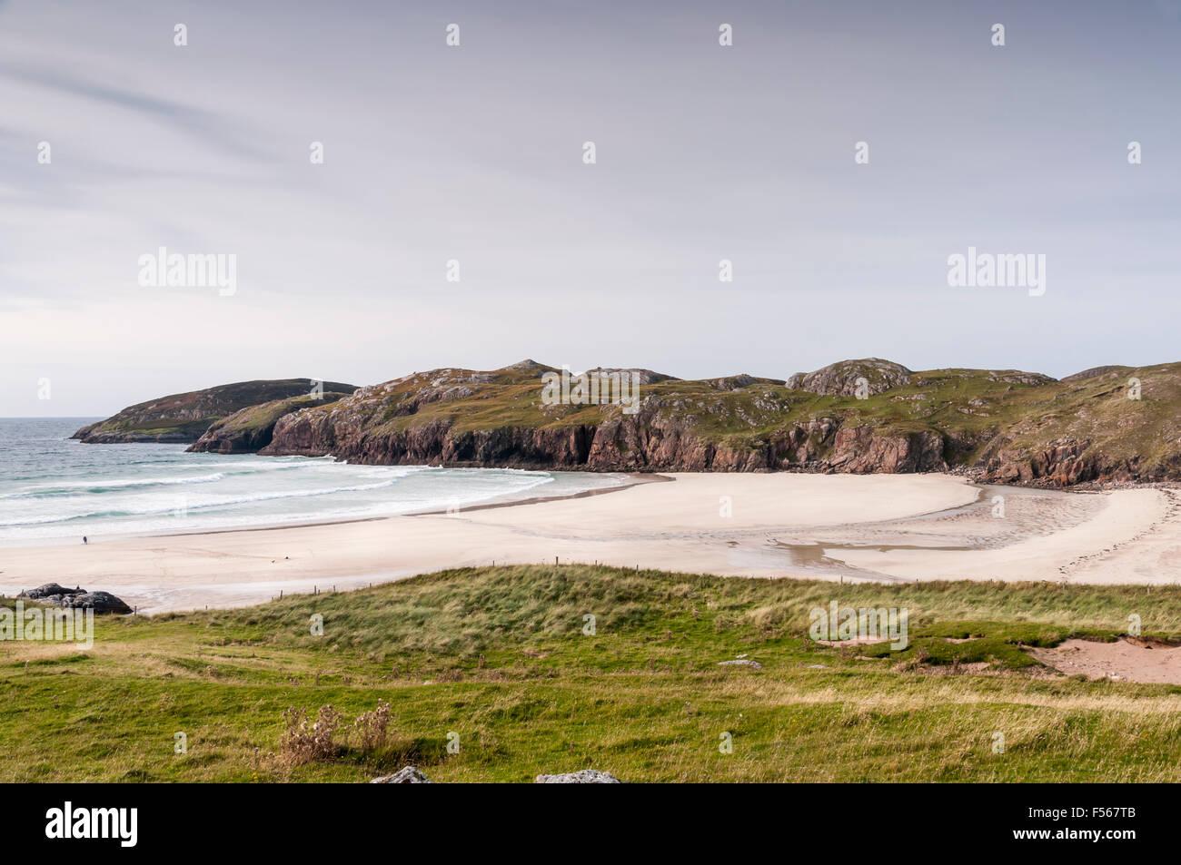Pollin Beach, Kinlochbervie, Sutherland, Scozia Foto Stock