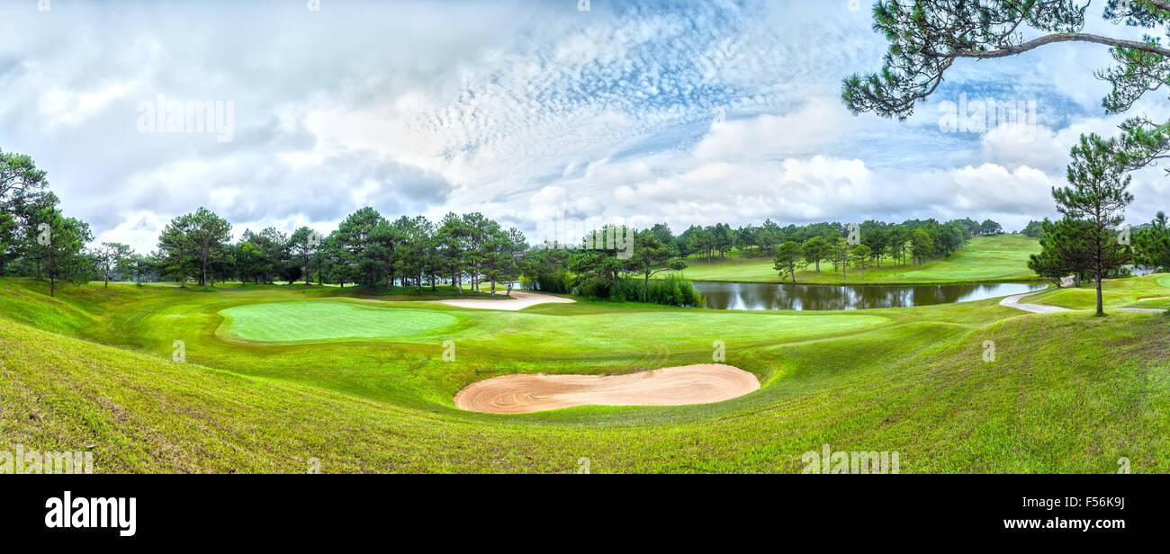 Panorama Golf Dalat Immagini Stock