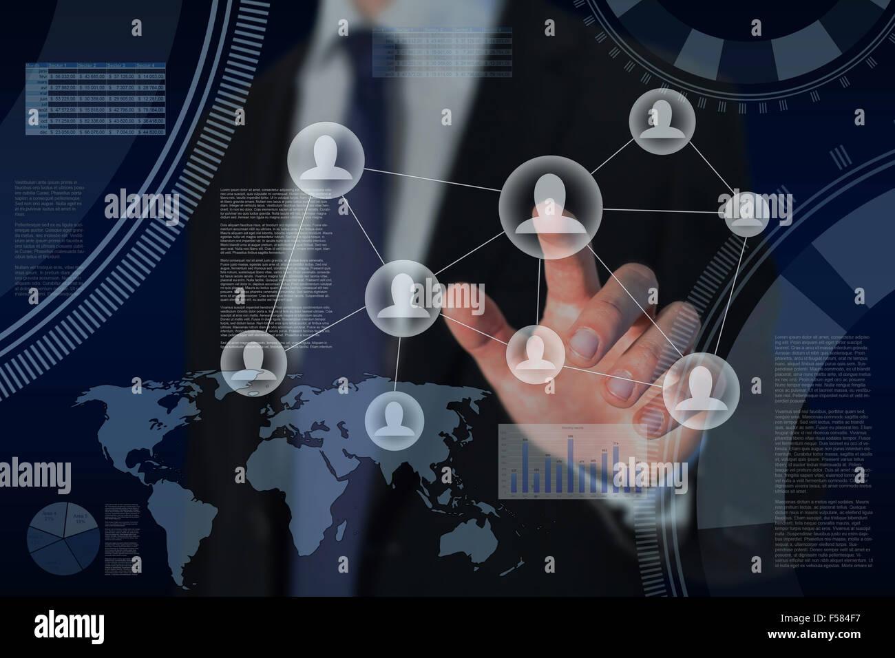 Le risorse umane e la strategia di business globale concetto Immagini Stock