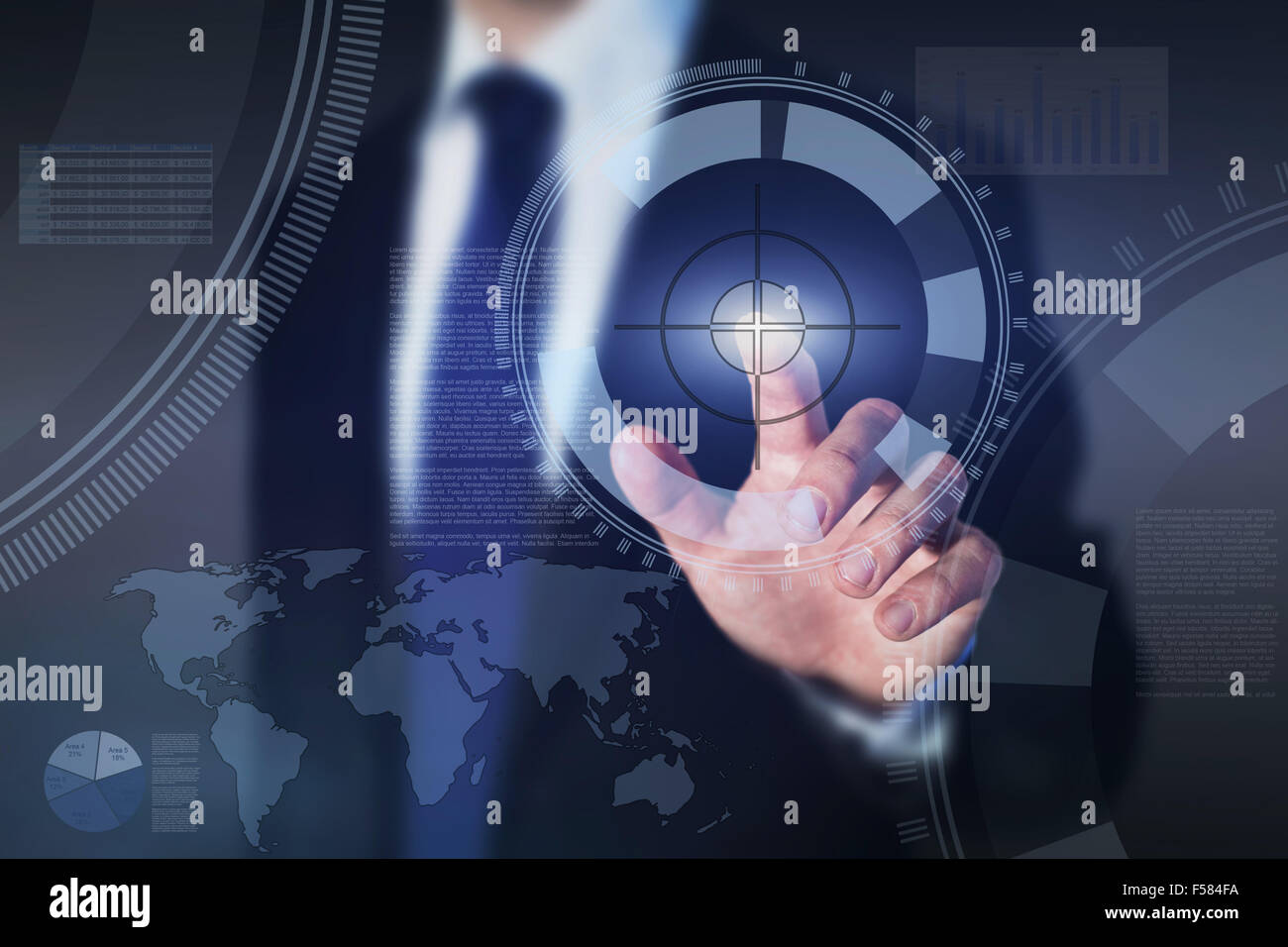 Business di successo di gestione, concetto astratto Immagini Stock