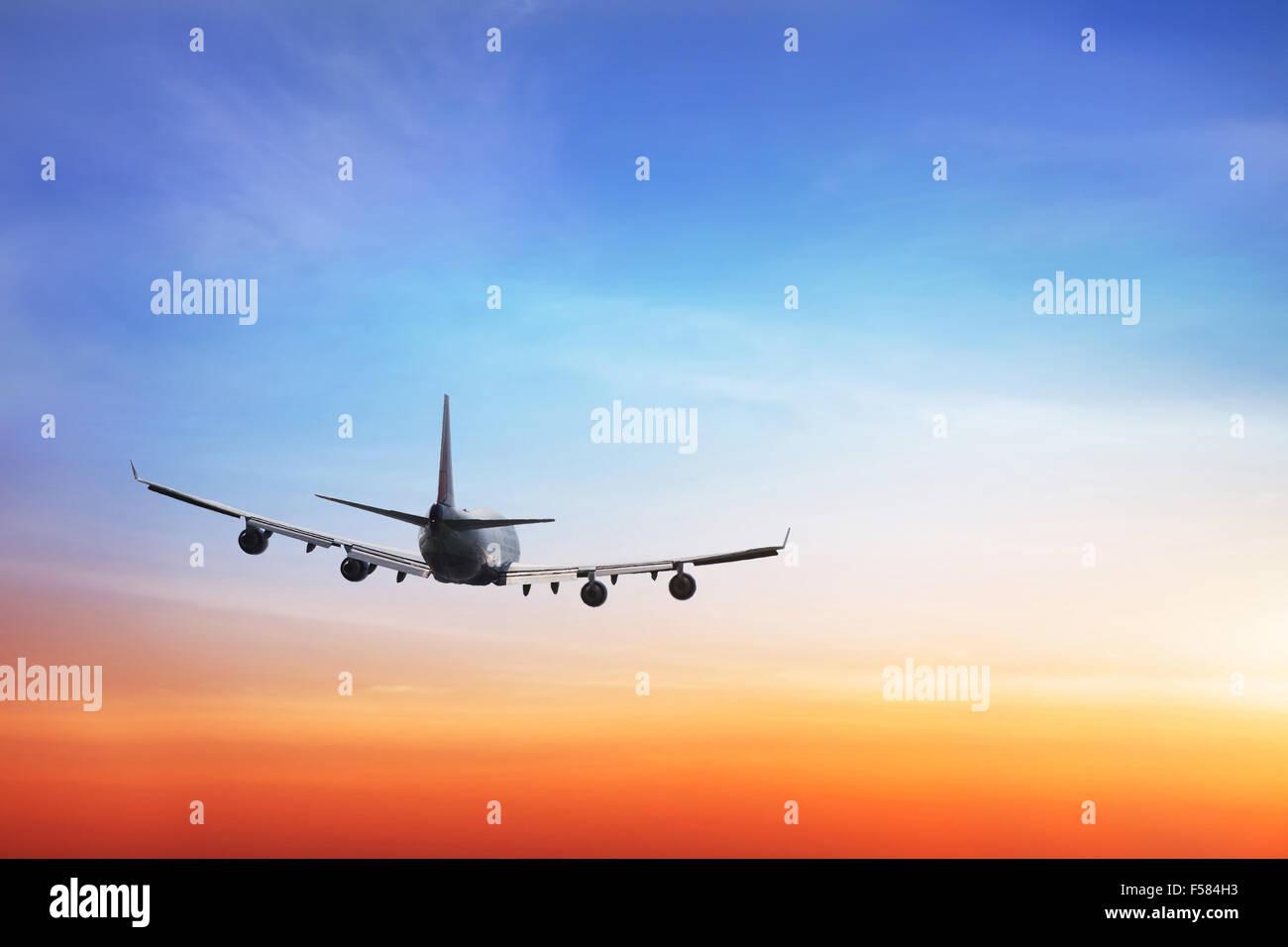 Sfondo di viaggio, compagnie aeree internazionali Immagini Stock