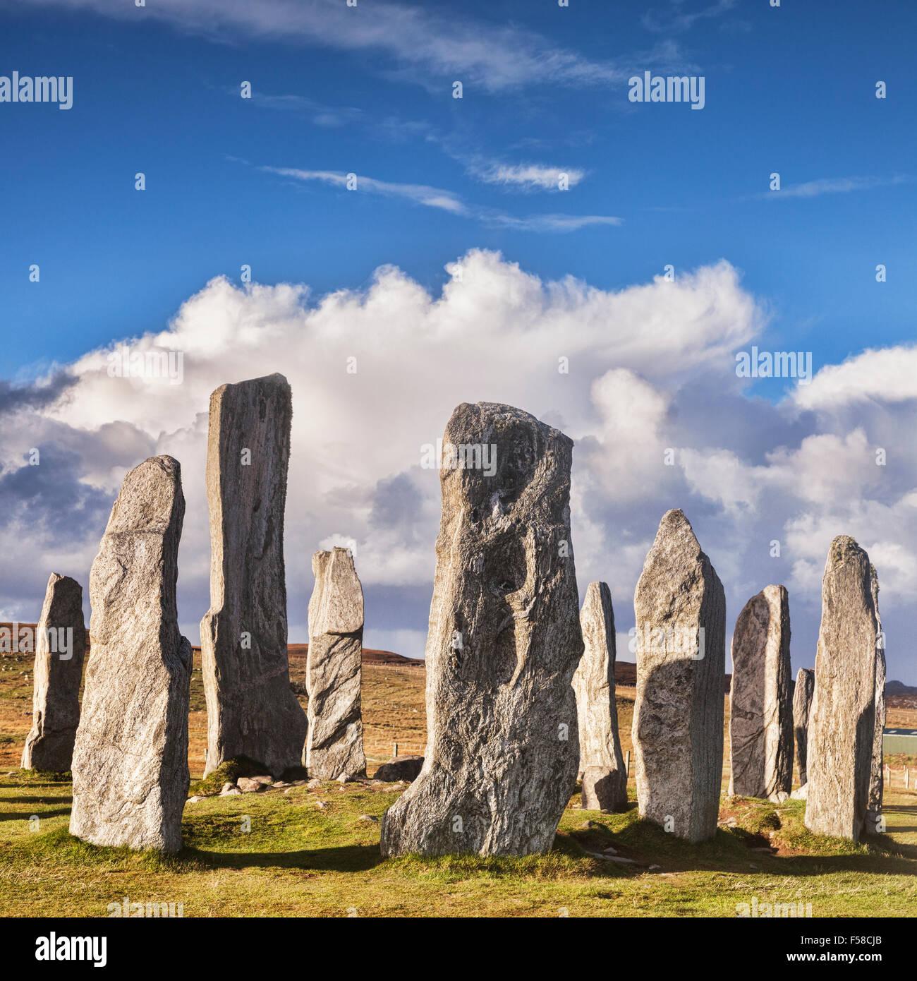 Cerchio di pietre di Callanish, isola di Lewis, Western Isles, Ebridi Esterne, Scotland, Regno Unito Immagini Stock
