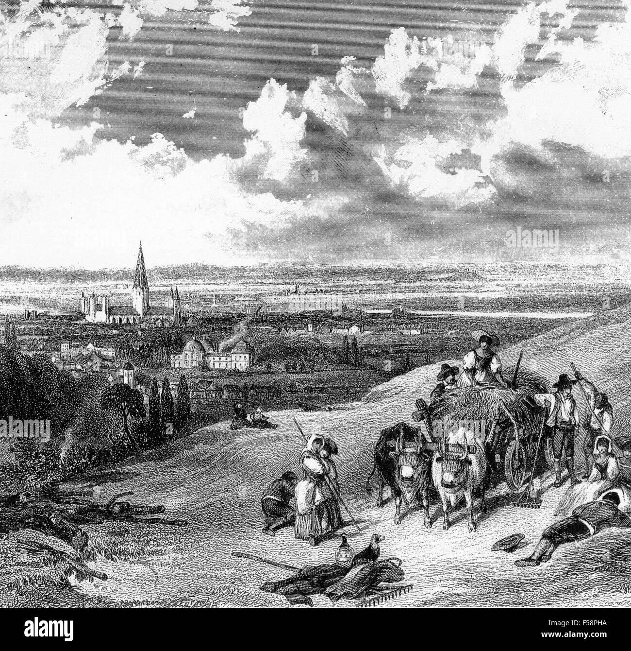 BONN, Germania. Incisione del xviii secolo Immagini Stock