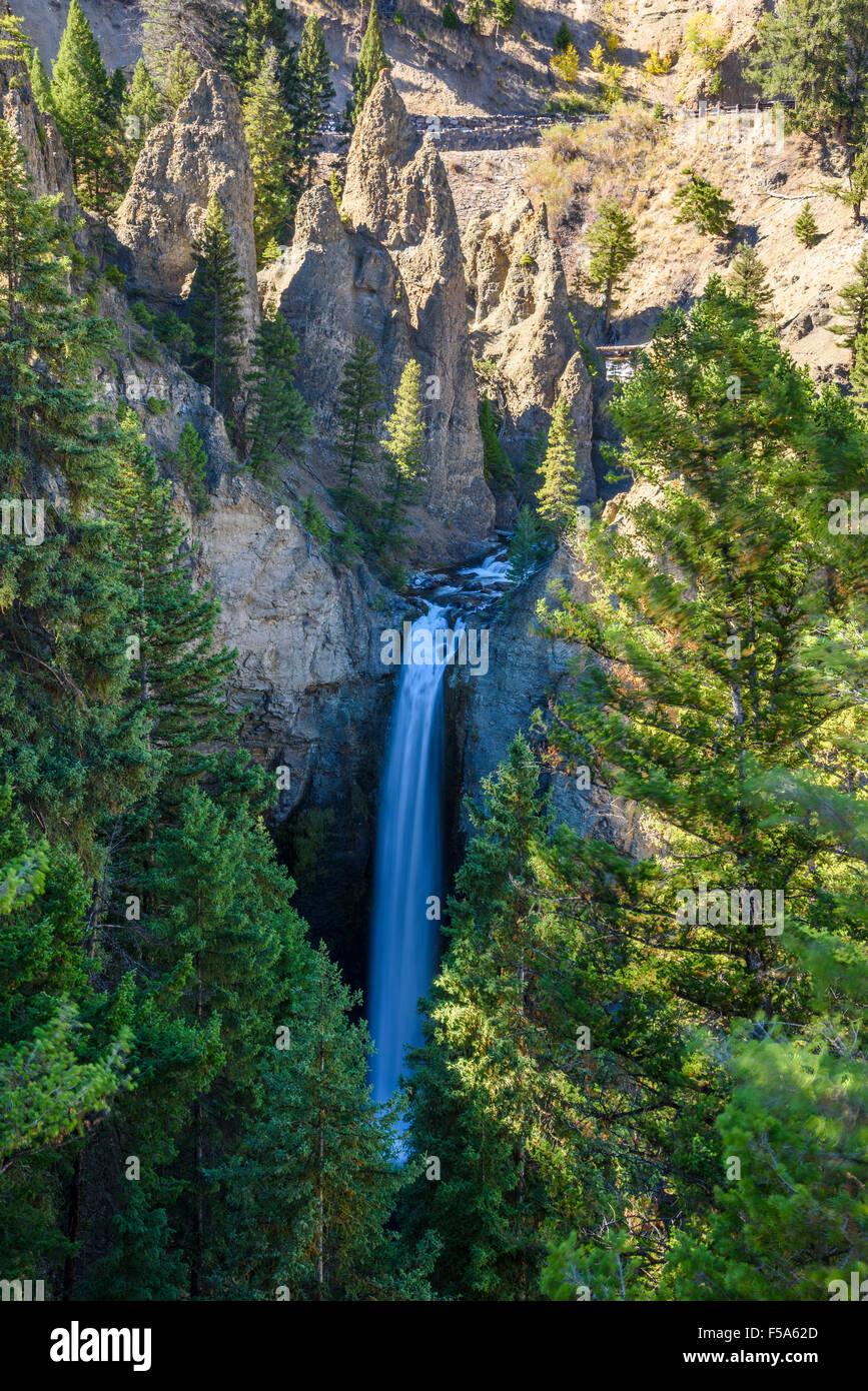 Torre cade, il Parco Nazionale di Yellowstone, Wyoming USA Immagini Stock