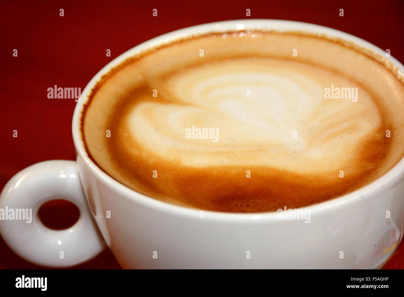 Tazza cappuccino Immagini Stock