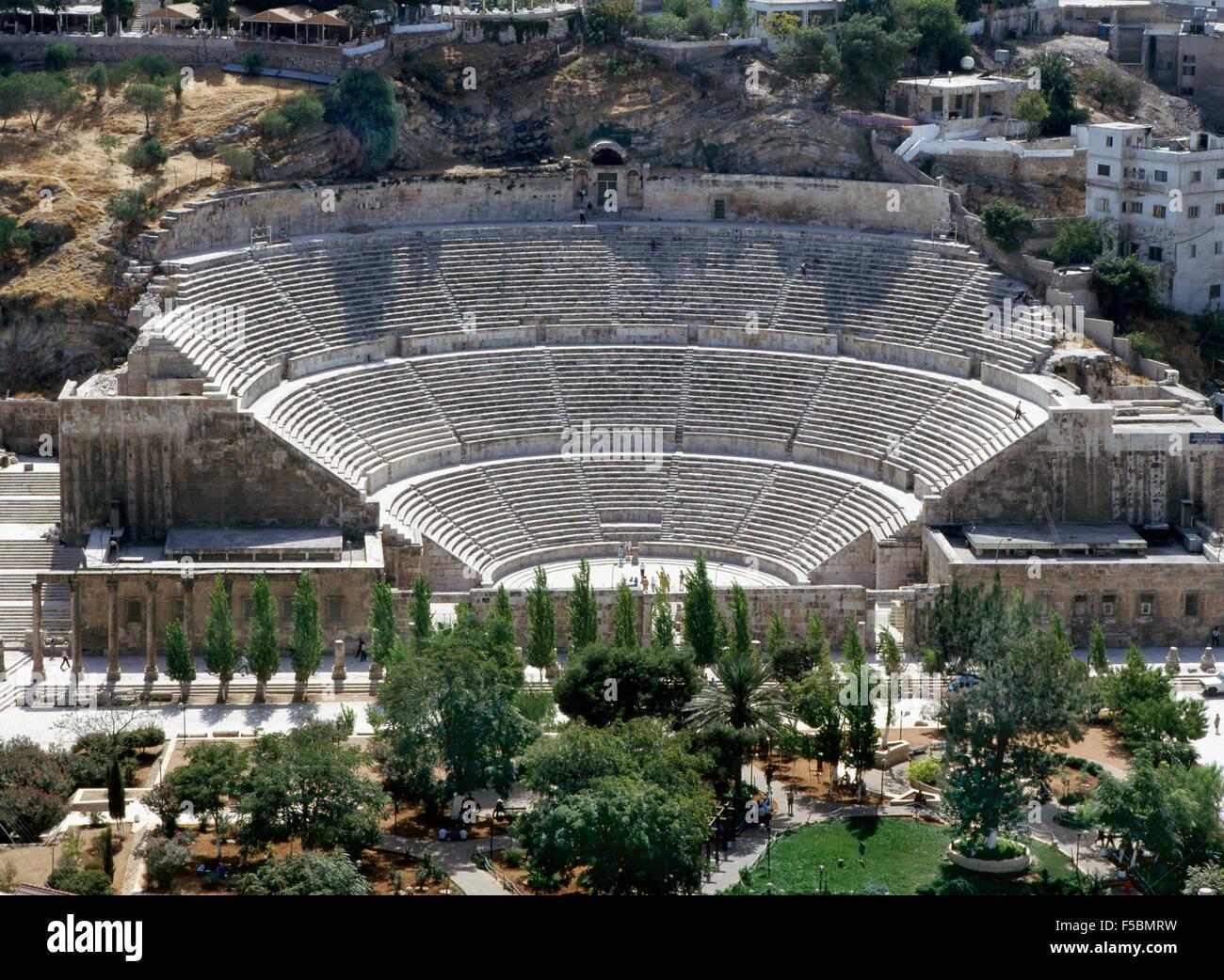 Anfiteatro romano di Amman Immagini Stock