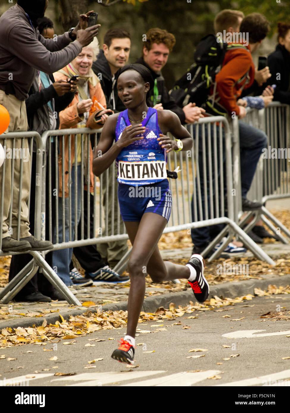 New York, New York, Stati Uniti d'America. 01 Nov, 2015. New York City Marathon. Maratona di New York, al Central Immagini Stock