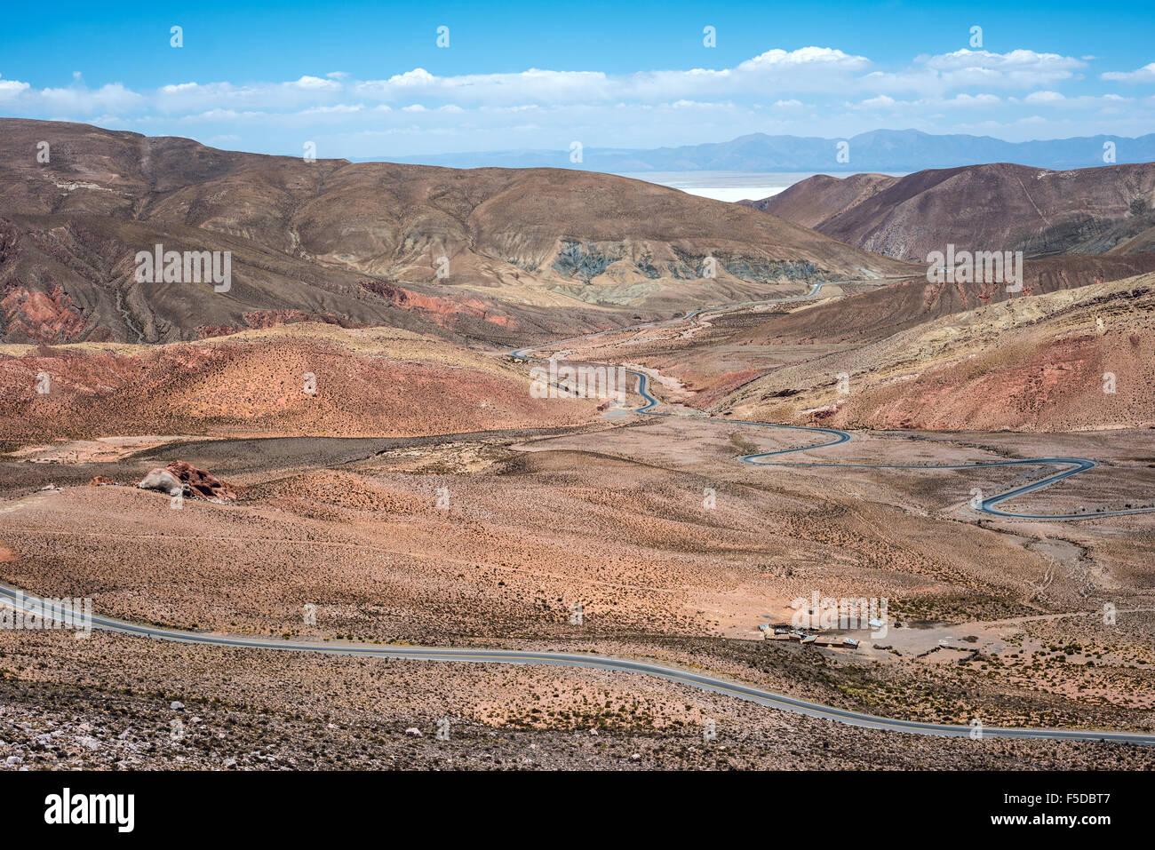 Nord-ovest Argentina - Salinas Grandes il paesaggio del deserto Foto Stock