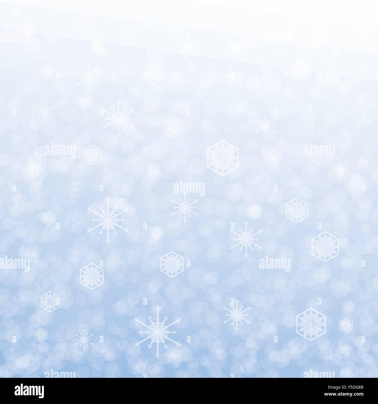 Scheda di Natale design con il simbolo del fiocco di neve su sfondo blu Immagini Stock