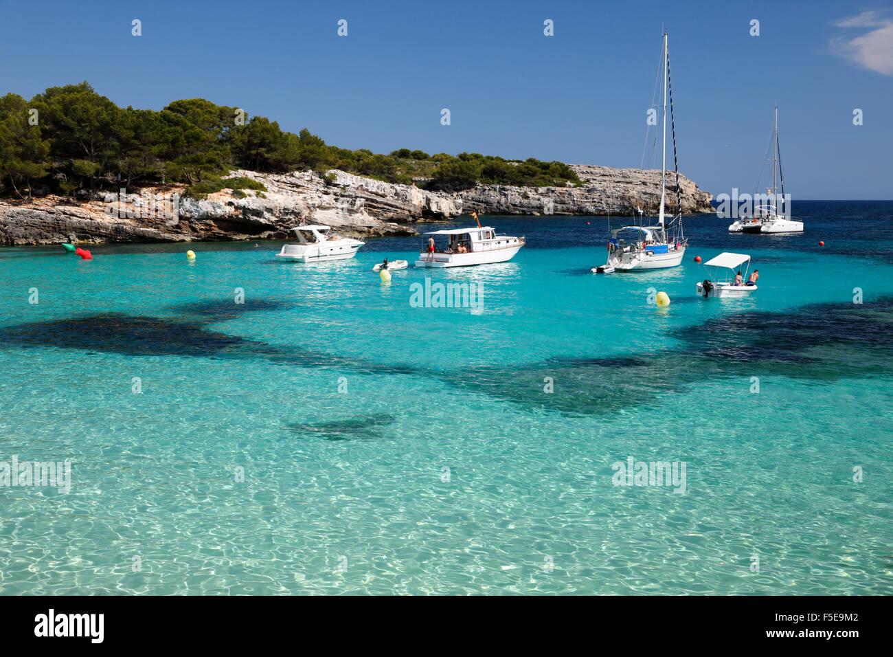 Cala en Turqueta, South West Coast, vicino a Ciutadella, Menorca, isole Baleari, Spagna, Mediterraneo, Europa Immagini Stock