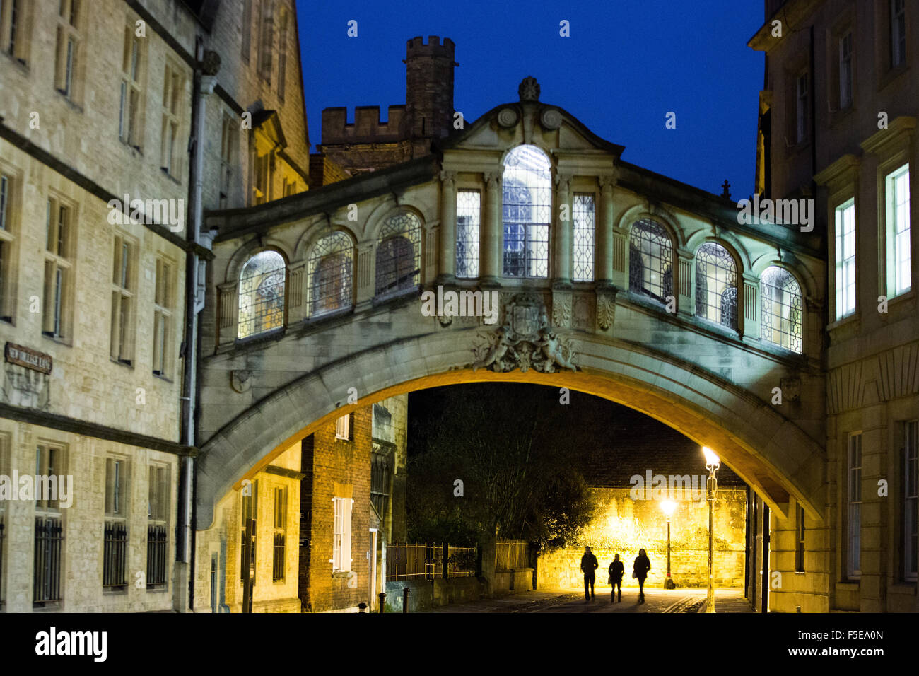 Ponte dei Sospiri, Oxford, Oxfordshire, England, Regno Unito, Europa Immagini Stock