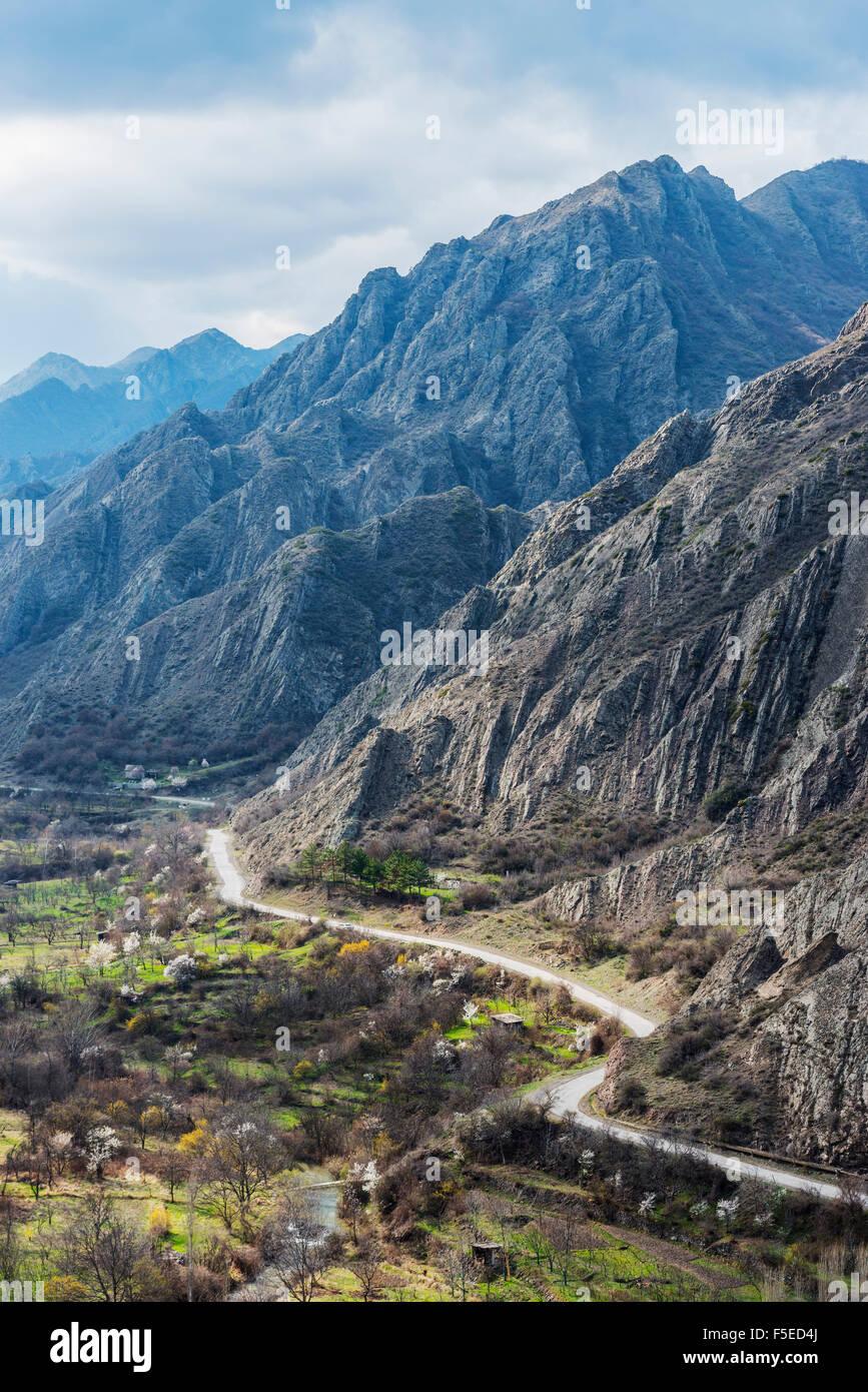 Tana valle vicino a Gori, Shida Kartli, Georgia, nel Caucaso e in Asia Centrale, Asia Immagini Stock