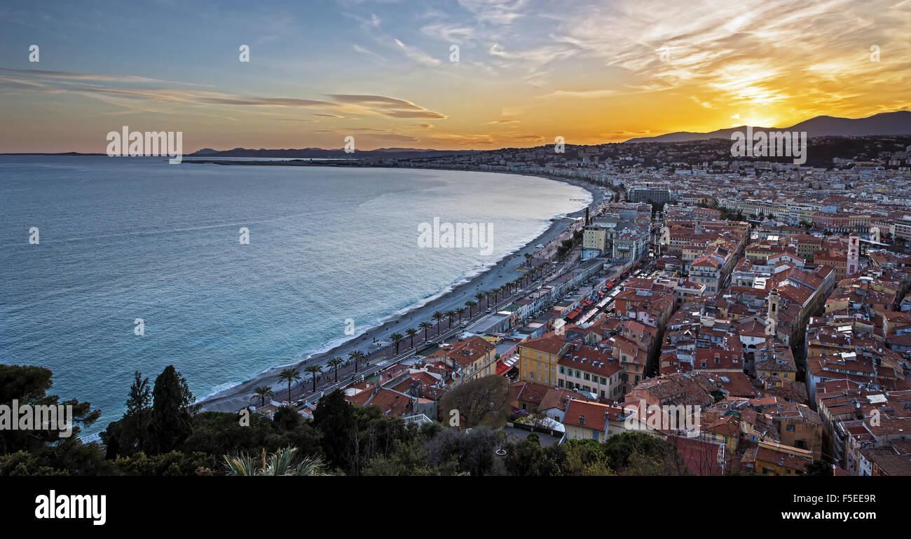 Città di Nizza Immagini Stock