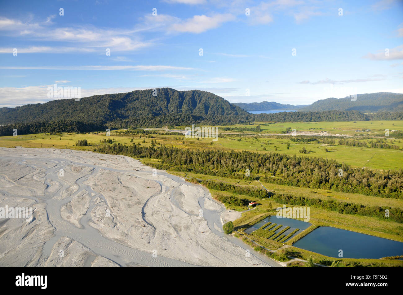 Franz Josef Valley, Franz Josef, Isola del Sud, Nuova Zelanda Immagini Stock