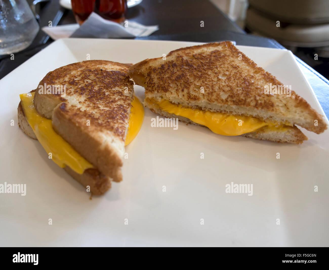 Formaggio alla griglia sandwich Foto Stock