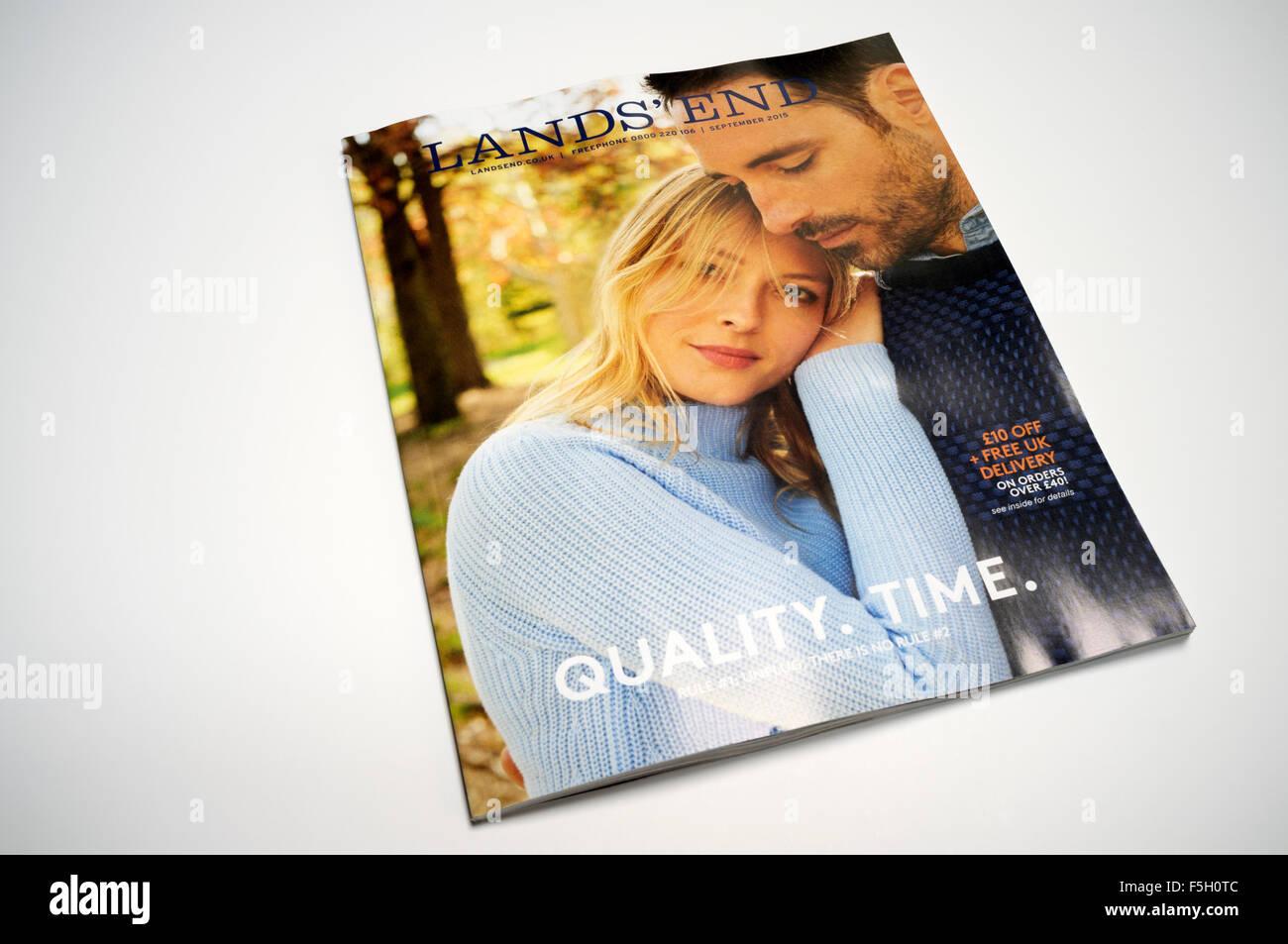 Abbigliamento Landsend azienda catalogo Immagini Stock