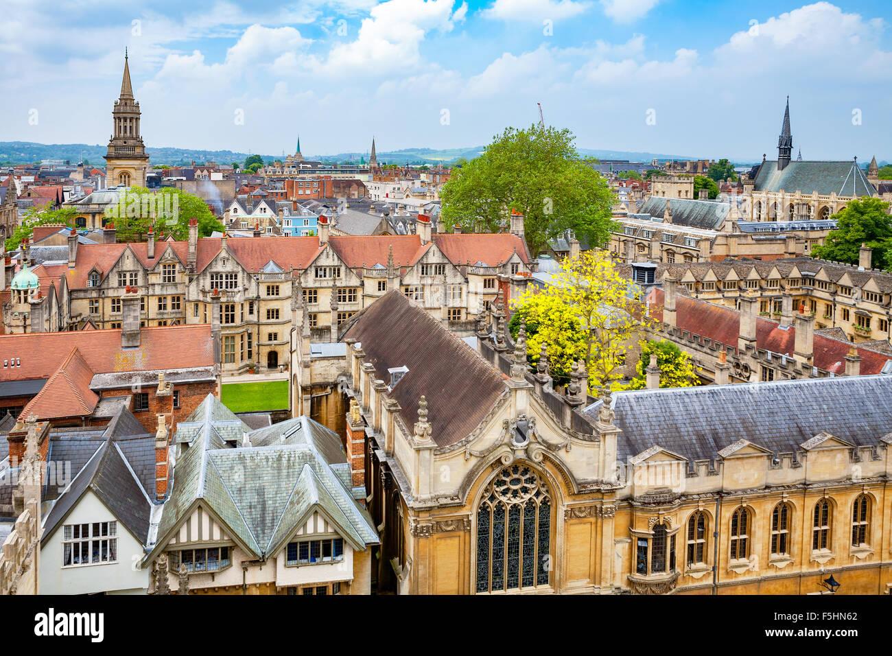 La città di Oxford. Inghilterra Immagini Stock