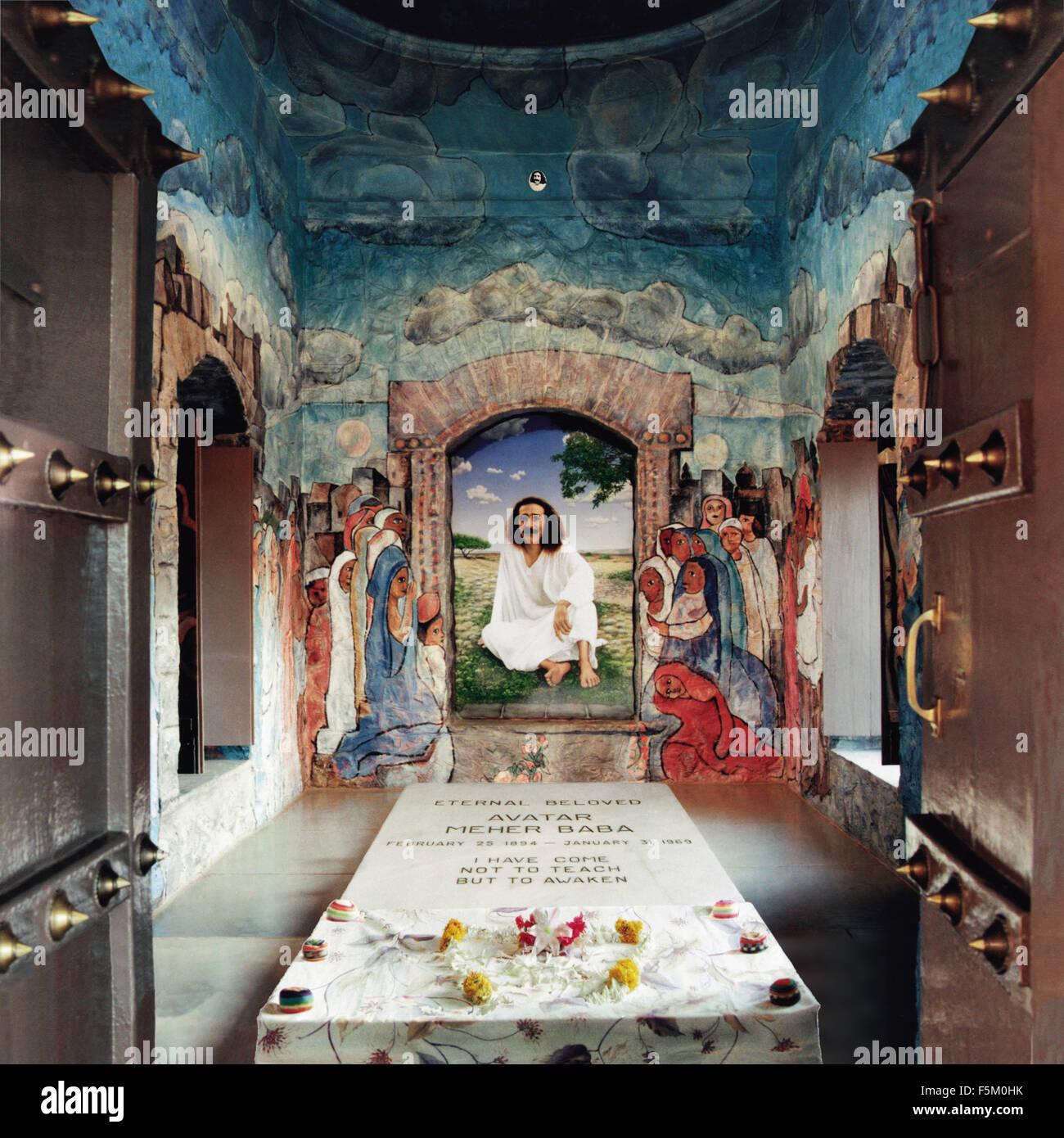 Avatar meher baba cimitero, India, Asia Immagini Stock