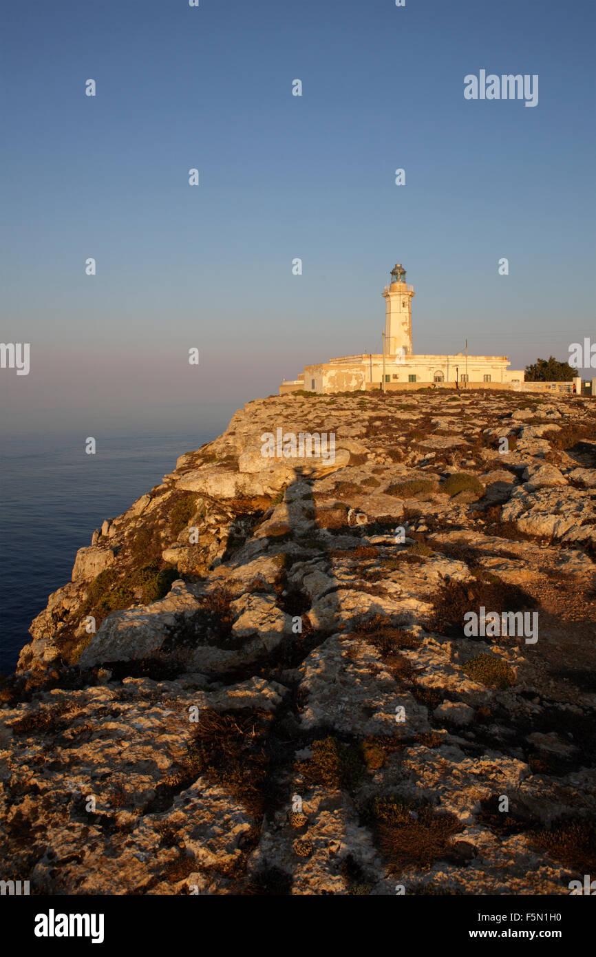 Faro di Lampedusa, Sicilia, Italia Immagini Stock