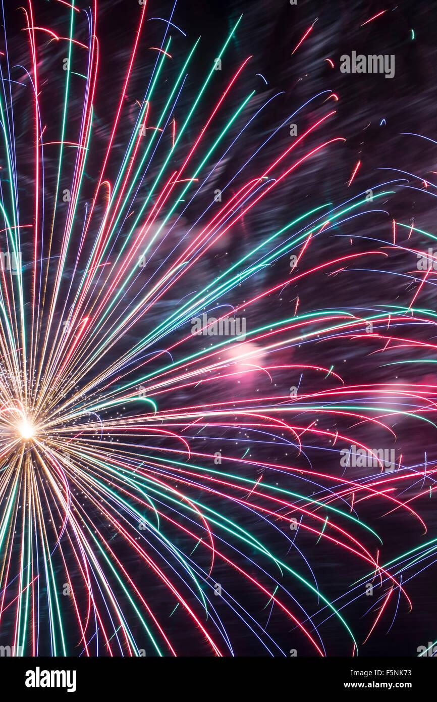 Fuochi d'artificio, Albuquerque International Balloon Fiesta di Albuquerque, Nuovo Messico USA Immagini Stock
