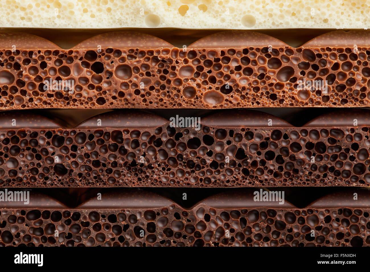 Barra di cioccolato texture Immagini Stock