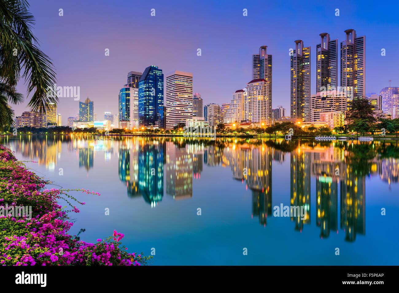 Bangkok, Tailandia a Benjakiti Park. Immagini Stock