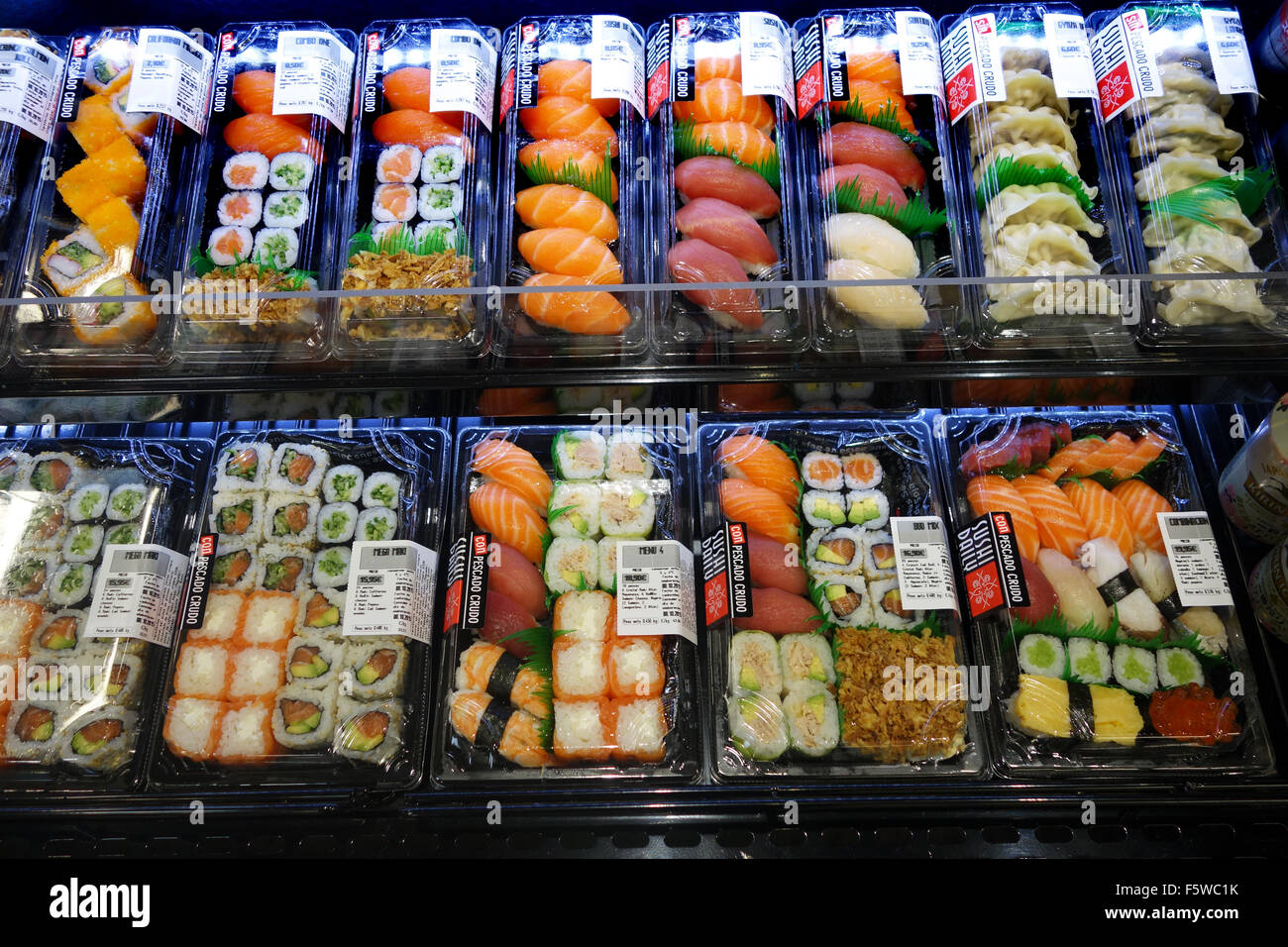 Sushi in vendita Immagini Stock