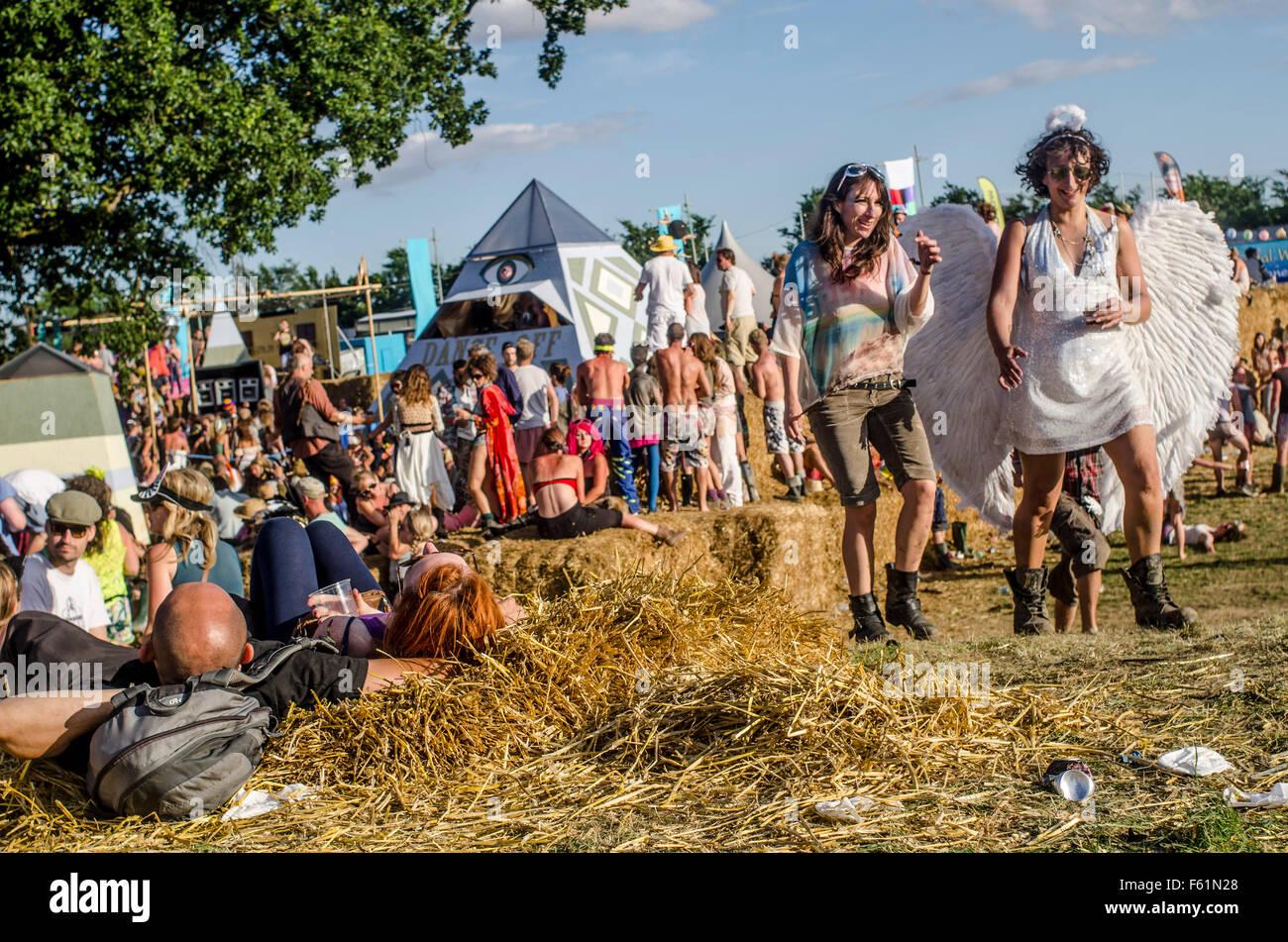 Il Secret Garden Party, Abbots Ripton Huntingdon , Cambridgeshire 2013. Ampiamente considerato come uno dei 'cool' Immagini Stock