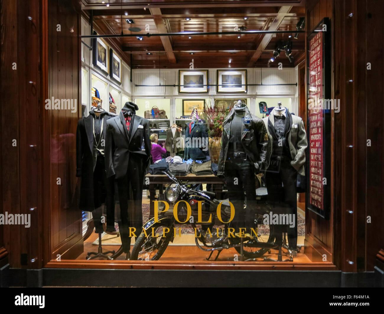 Ralph Lauren Polo Retail Store finestra facciata Fifth Avenue fe3a64f2d97e