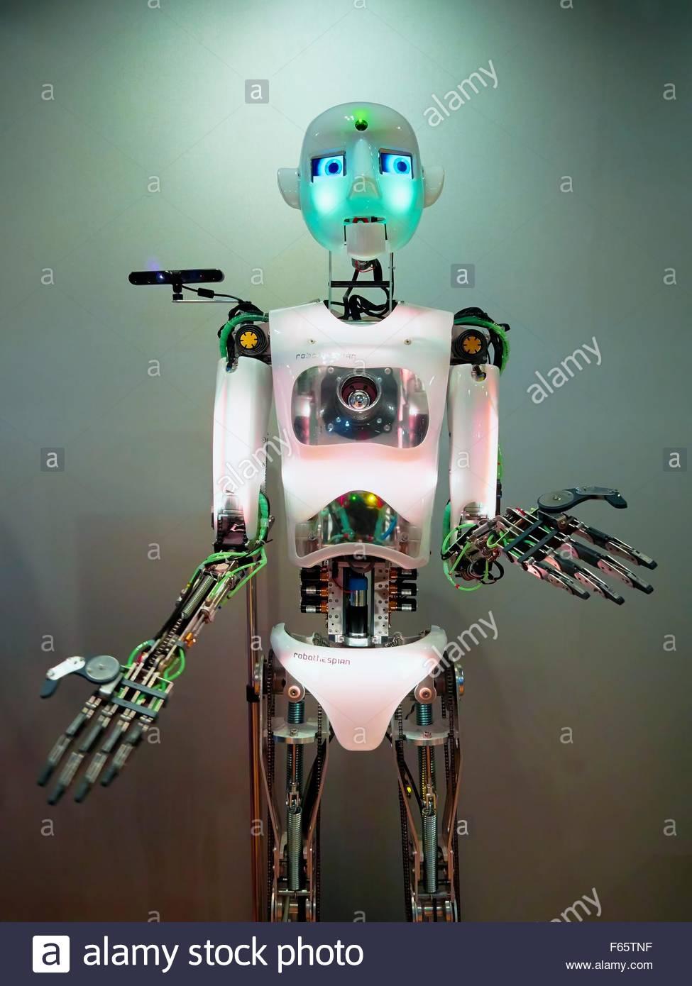 Un robot a Hans Nixdorf Forum, Paderborn Immagini Stock