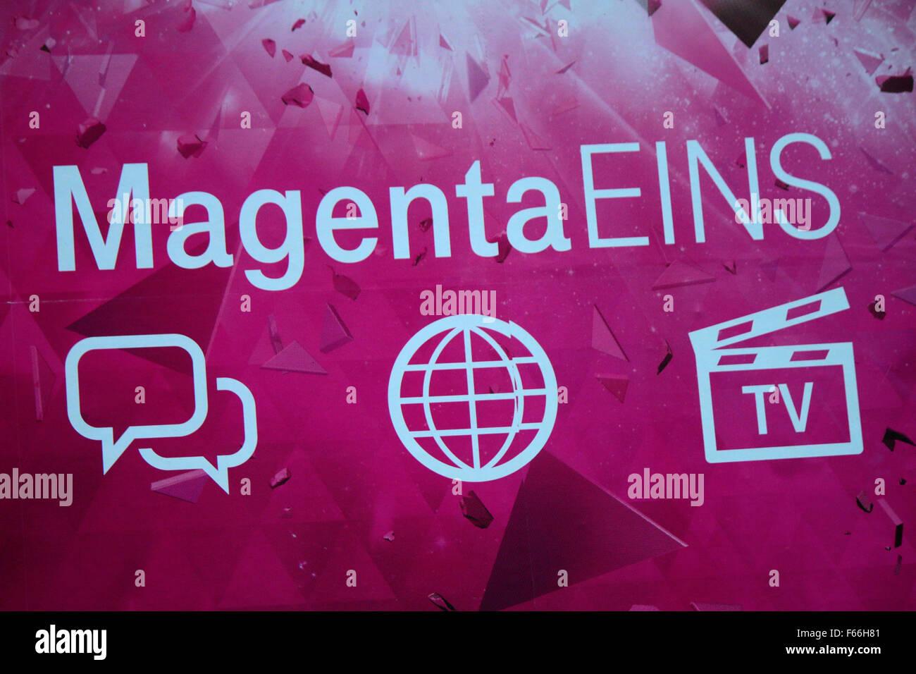 """Markennamen: 'Deutsche Telekom Magenta Eins"""", Berlino. Immagini Stock"""