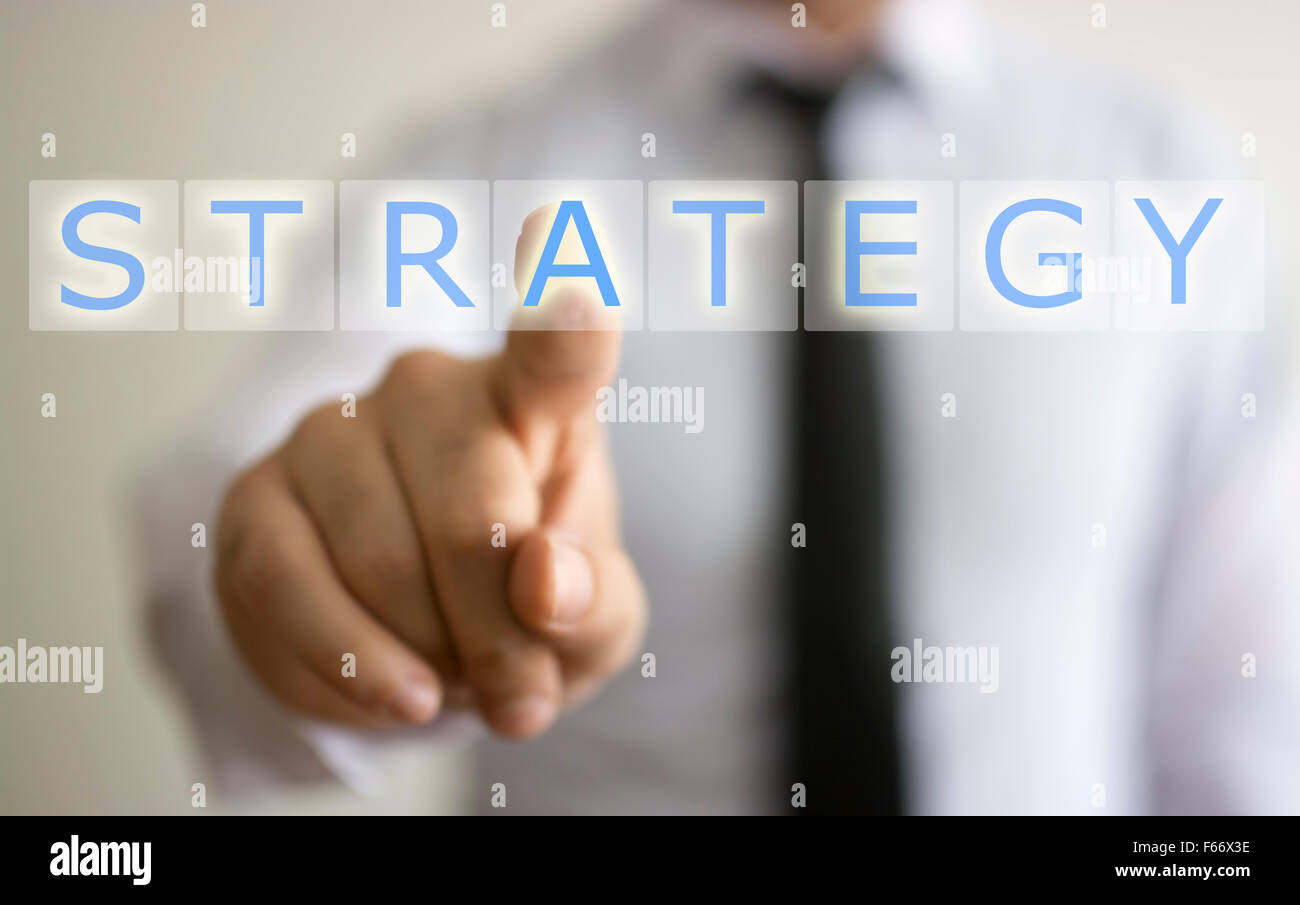 Business e il concetto di strategia Immagini Stock