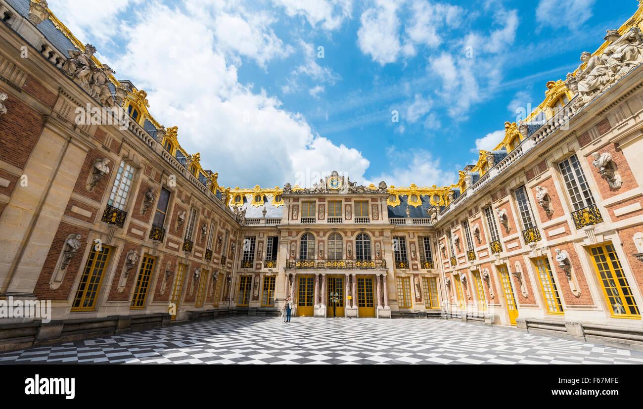 Palazzo di Versailles, Sito Patrimonio Mondiale dell'UNESCO, Yvelines, regione Ile-de-France, Francia Foto Stock