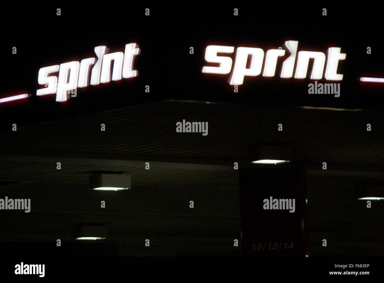 Markenname: 'Sprint', Berlino. Immagini Stock