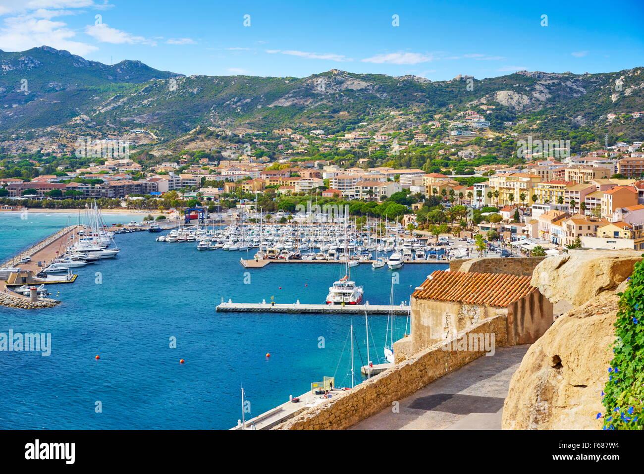 Marina di Calvi, Balagne, Corsica, Francia Immagini Stock
