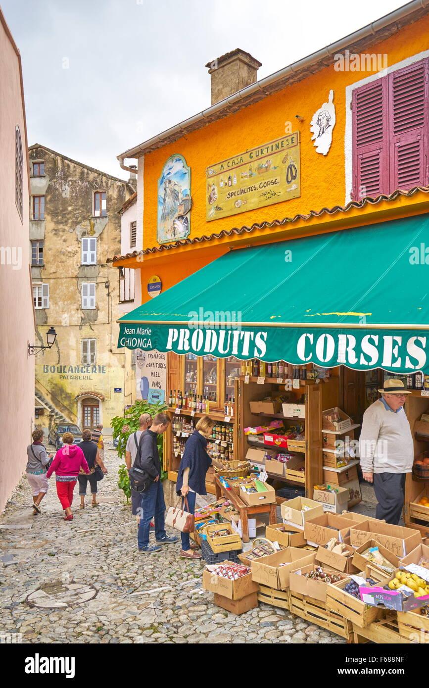 Corte Vecchia, Corsica, Francia Immagini Stock