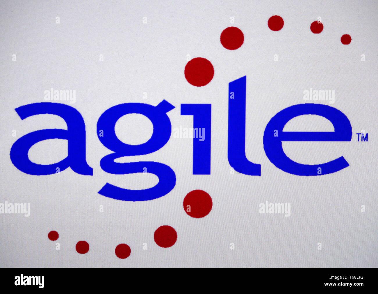 """Markenname: """"agile"""", Berlino. Immagini Stock"""