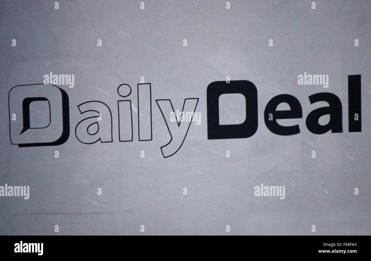 Markenname: 'Daily Deal', Berlino. Immagini Stock