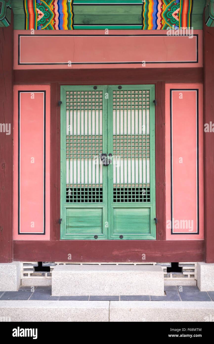 Porta in Gwanghwamun, Seoul COREA DEL SUD Immagini Stock