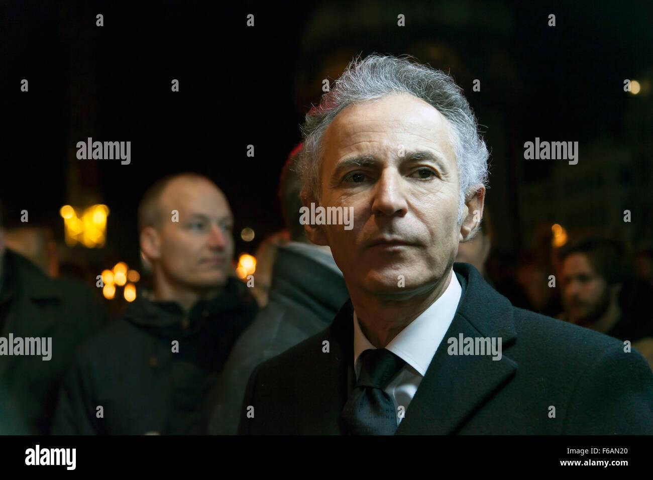 Copenhagen, Danimarca. 15 Novembre, 2015. Ambasciatore francese in Danimarca, François Zimeray, partecipa alla Immagini Stock