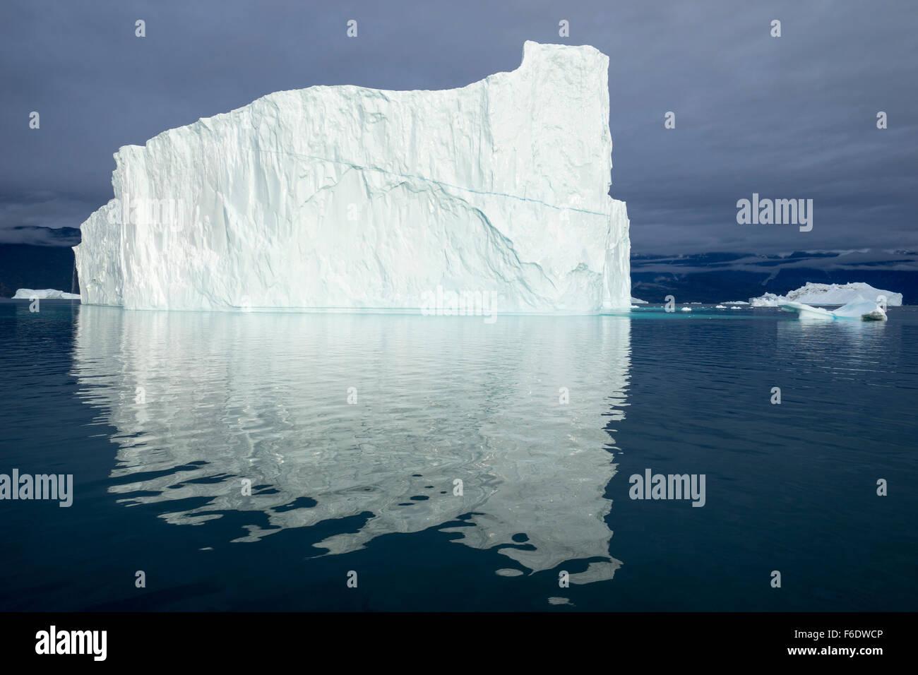 Iceberg. Est della Groenlandia, Scoresby Sund, 2015. Foto Stock