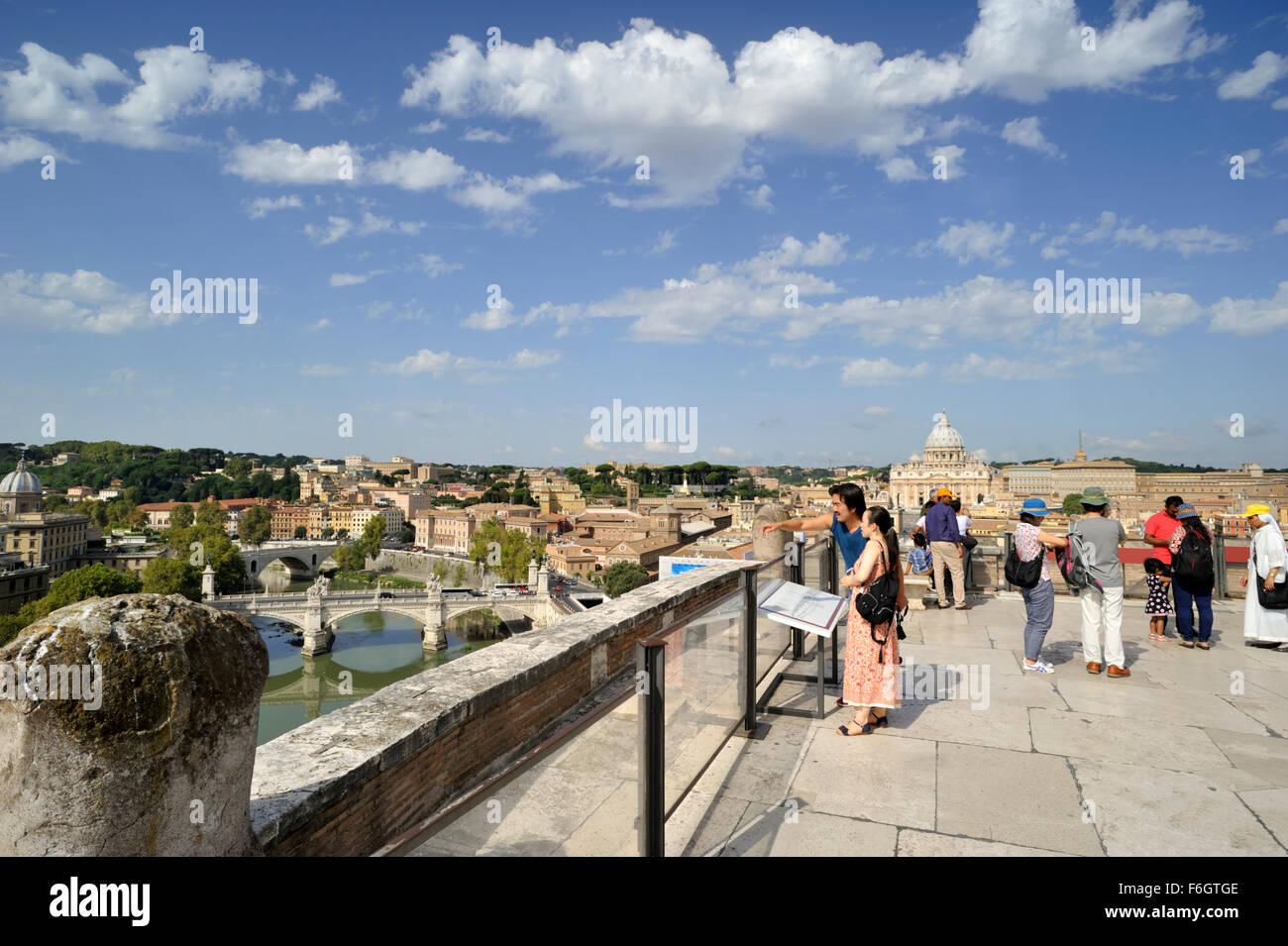 Italia Roma Castel Sant Angelo Terrazza Foto Immagine