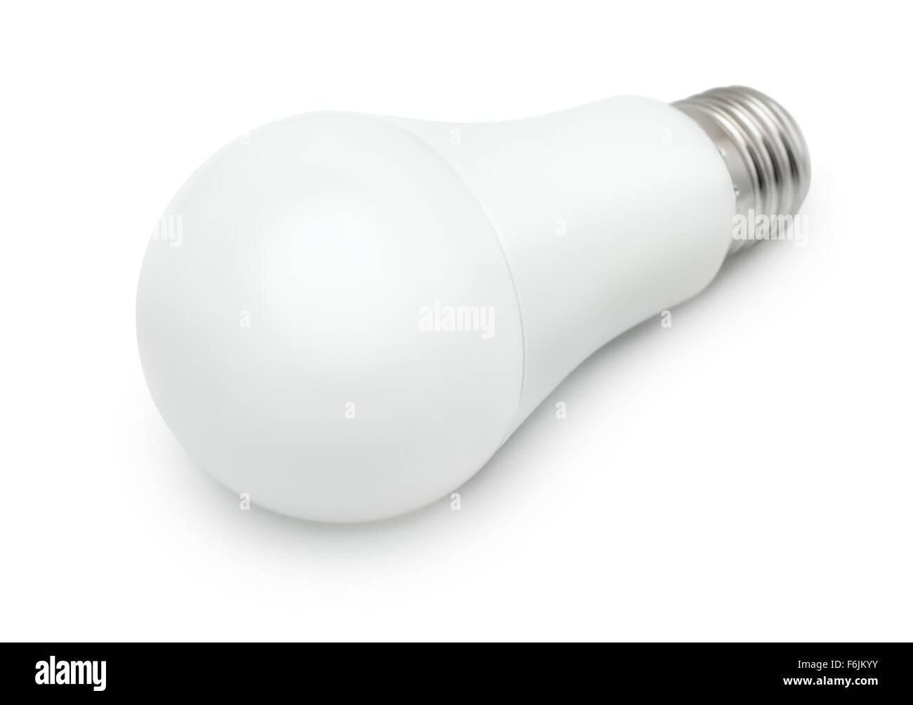 Luce LED lampadina isolato su bianco Immagini Stock