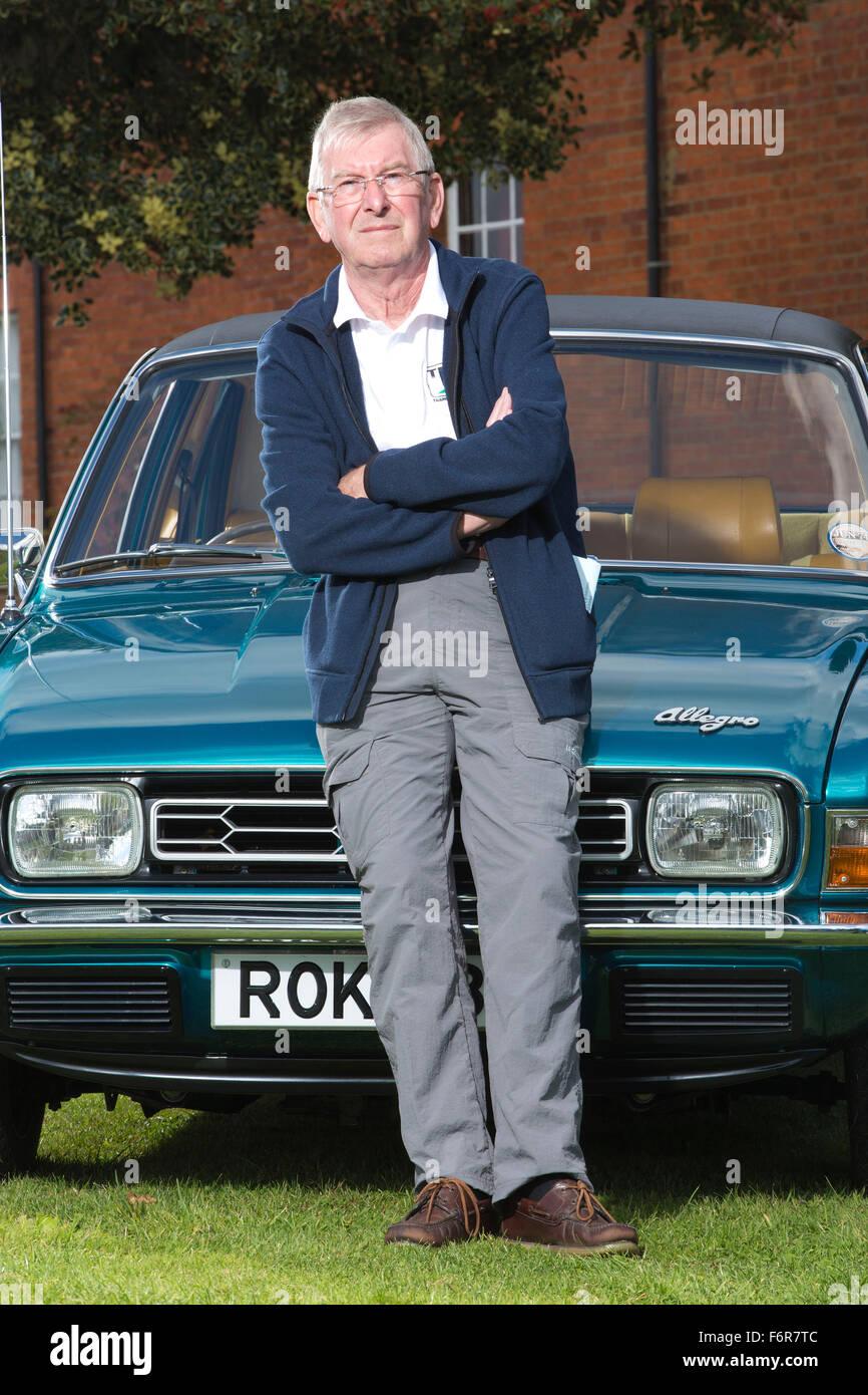 Harris Mann designer di Austin allegro e British Leyland vetture di inizio degli anni settanta e ottanta, Wolversten, Immagini Stock