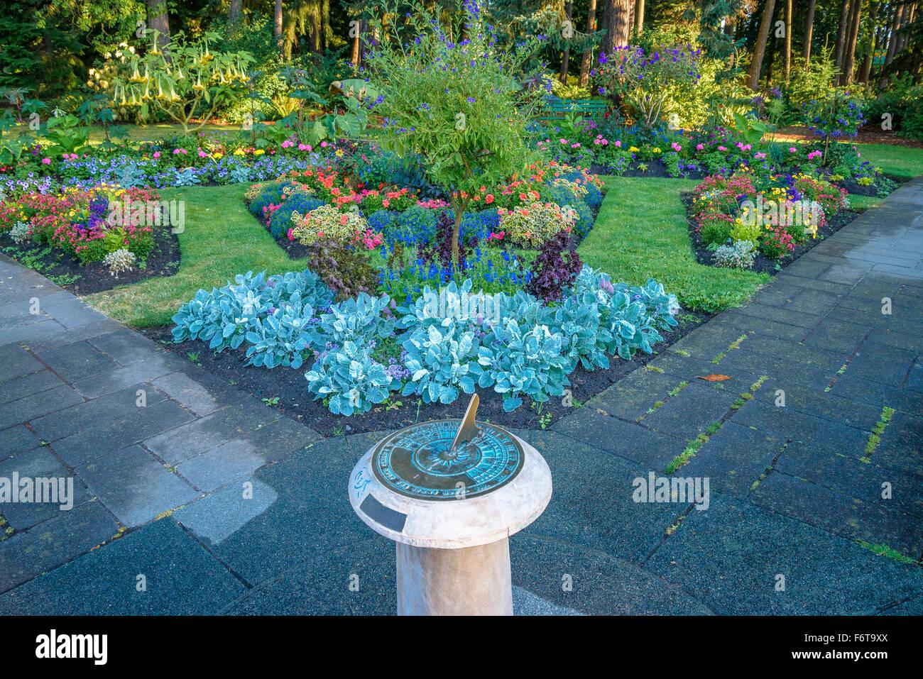 Meridiana, Beacon Hill Park, Victoria, British Columbia, Canada Immagini Stock