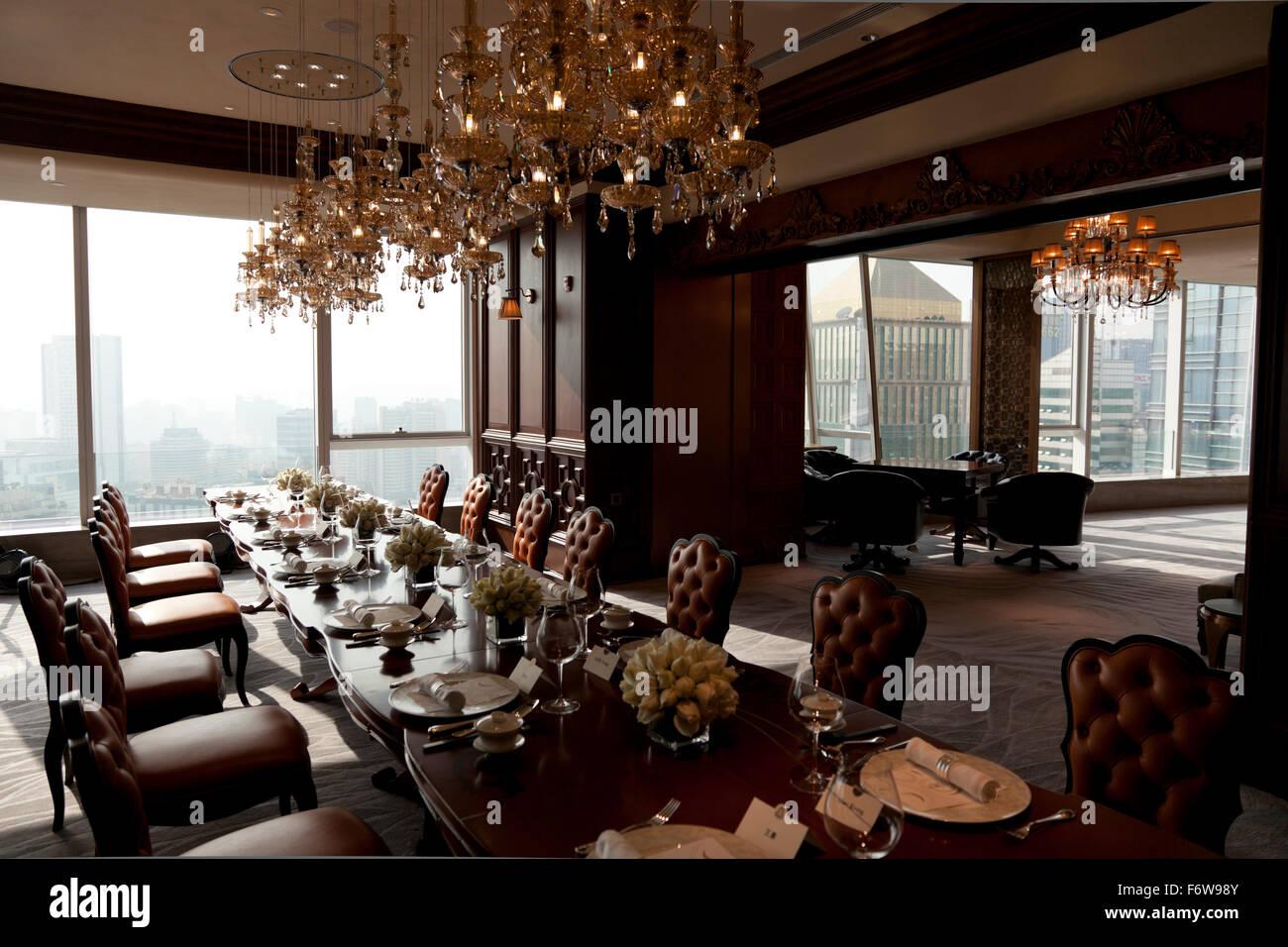 Eleganti sale da pranzo private al ventisettesimo piano della St ...