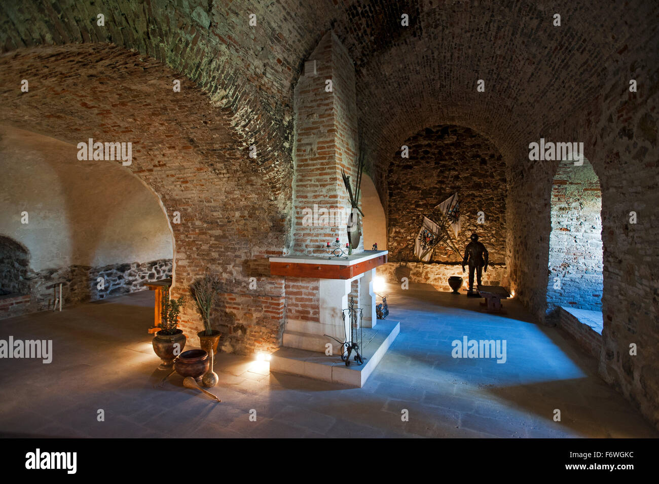 L'interno della fortezza, Alba Iulia, Transilvania, Romania Immagini Stock